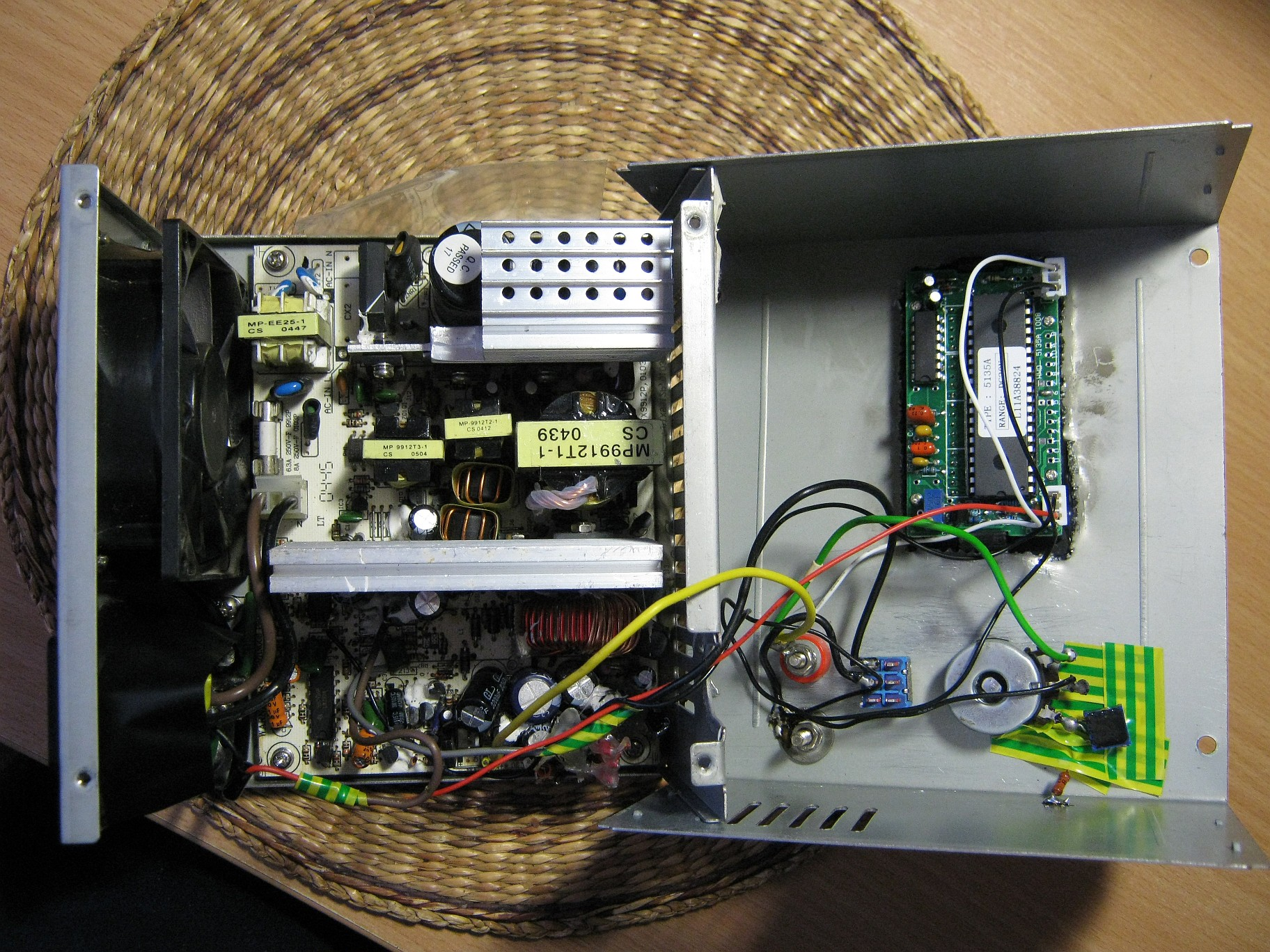 Fully Regulated Atx Power Supply Bogin Jr Volt 2 Amp Psu Single Ic Regulator Conversion Inside View