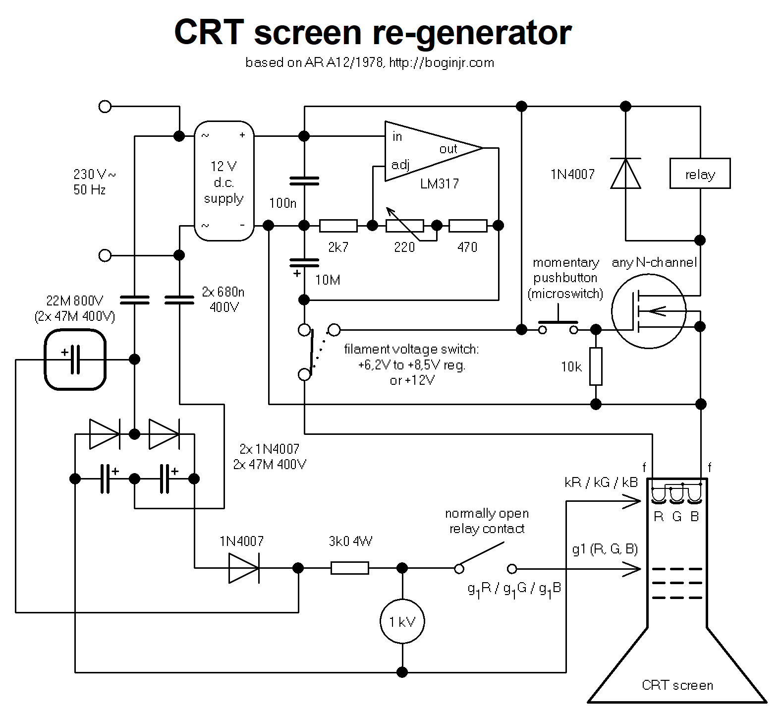 Crt Schematic Diagram Wiring Library Nixie Clock Circuit Diagrams