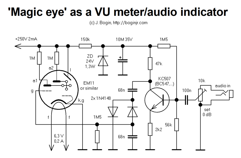 magic eye tuning indicator as a vu meter  u2013 bogin  jr