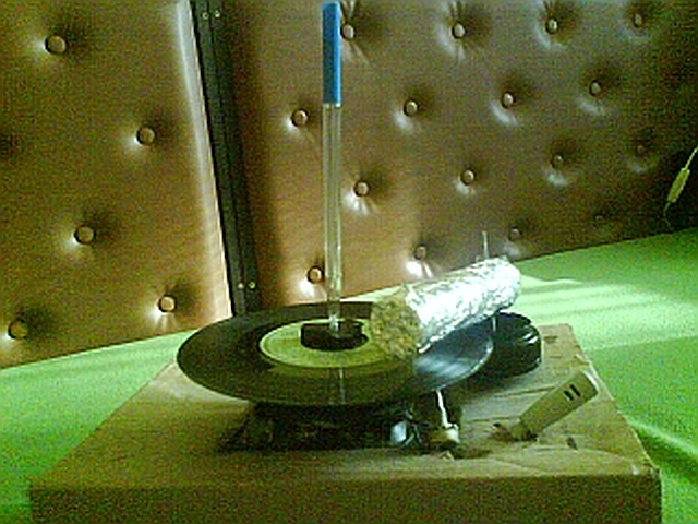 Hand driven record player