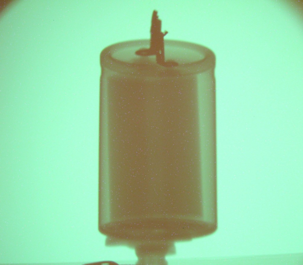 Big capacitor X-ray