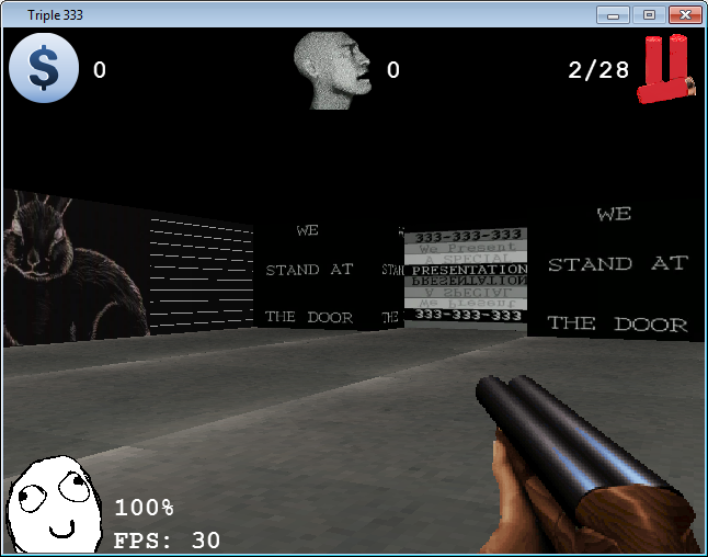 Triple333, screenshot from alpha version