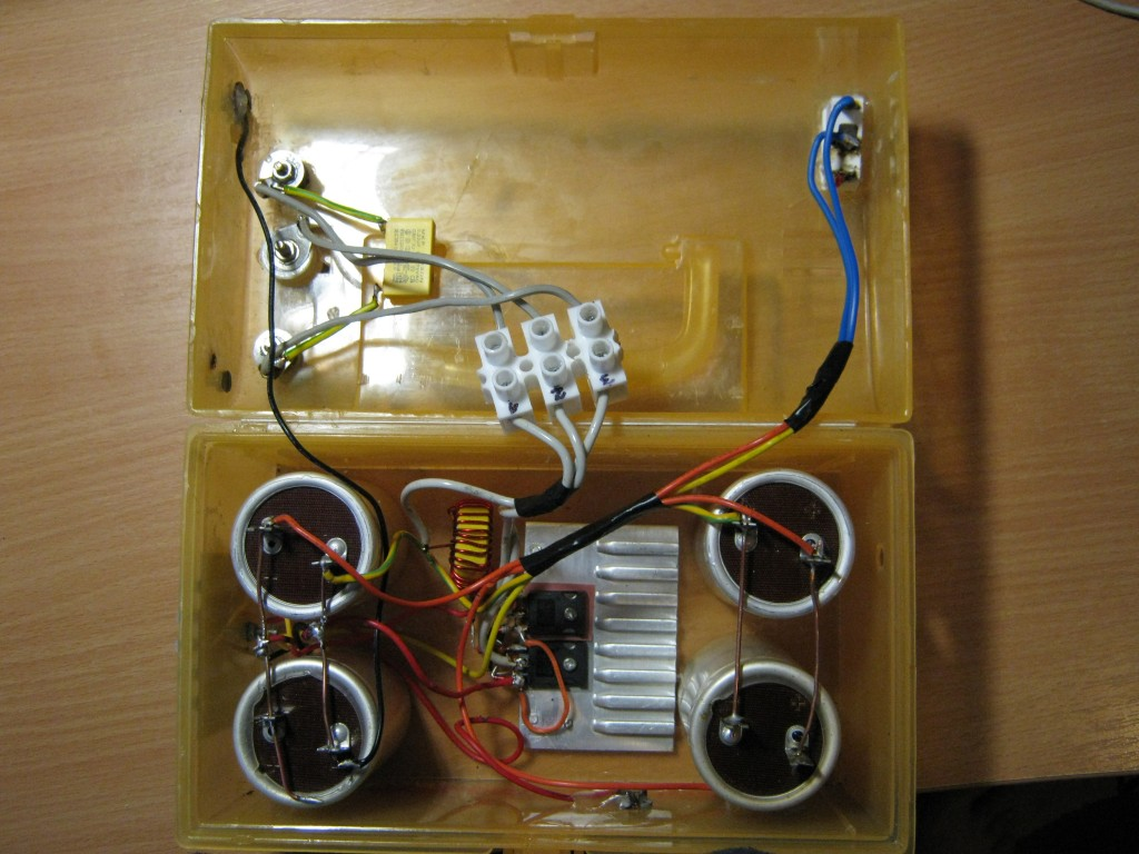 ZVS flyback driver, connections